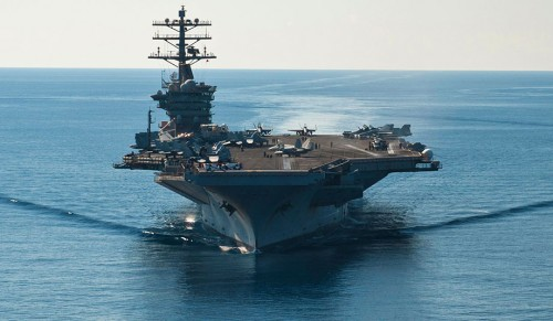 USS Nimitz underway in the Mediterranean Sea (Seaman Raul Moreno Jr.)