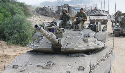 The IDF's 401st Armored Brigade in action near Gaza. (IDF via Flickr)