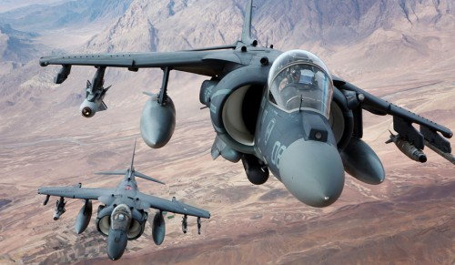 Marine Corps AV-8B Harriers over Afghanistan, December 2012 (Corporal Gregory Moore)