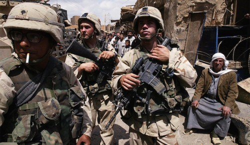 U.S. Marines in Baghdad, April 2003 (Oleg Nikishin/Getty Images)