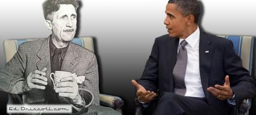 Mr. President, honest, I did not write 1984 as a how-to guide.Photo via Eddriscoll.com