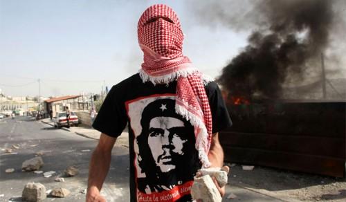 Palestinian protester wearing a Che Guevara tee-shirt (via NRO)