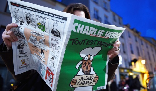 Charlie Hebdo returns to newsstands at the terrorist attack. (Pascal Le Segretain/Getty)