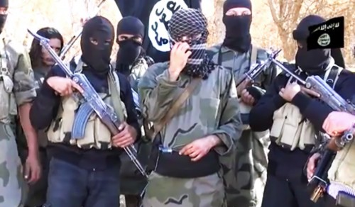Militants in an ISIS propoganda video