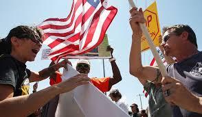 Immigration protest in Murrieta, Calif. (David McNew/Getty)