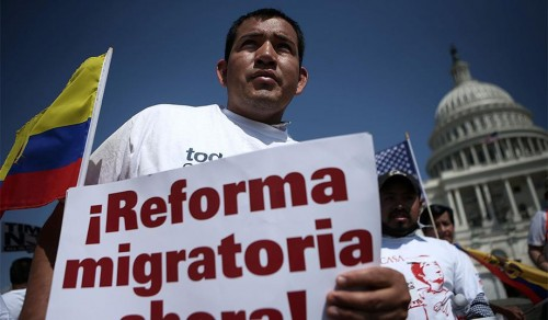 Immigration reform rally in Washington, April 2013. (Alex Wong/Getty)