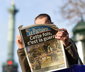 Parisian reading Le Parisien